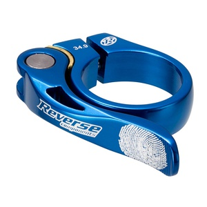 Seat Clamp Long Life (QR)  Ø34.9mm Reverse Blue